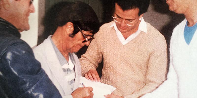 Orlando Noronha Carneiro com Chico Xavier